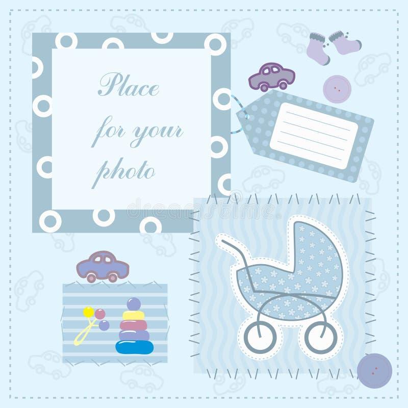 Kader voor de foto van de baby royalty-vrije illustratie