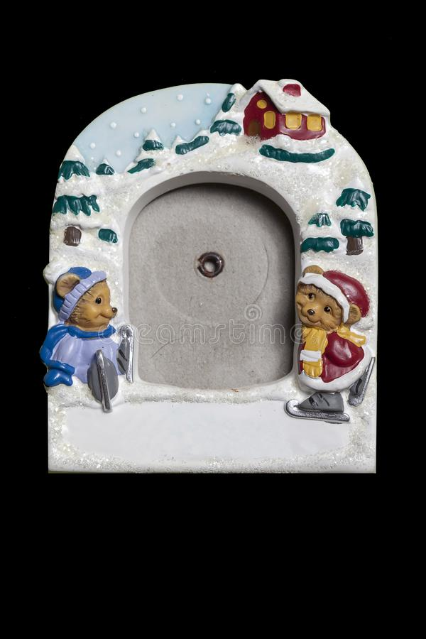 Kader voor foto's met een Kerstmisthema Lege plaats voor uw foto royalty-vrije stock foto