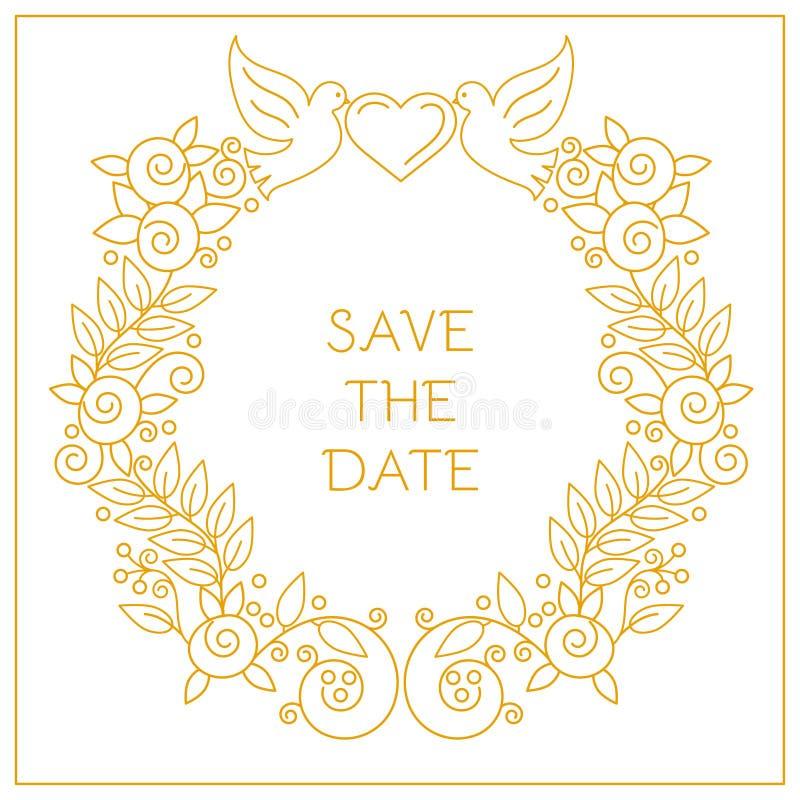 Kader voor huwelijksuitnodigingen royalty-vrije illustratie