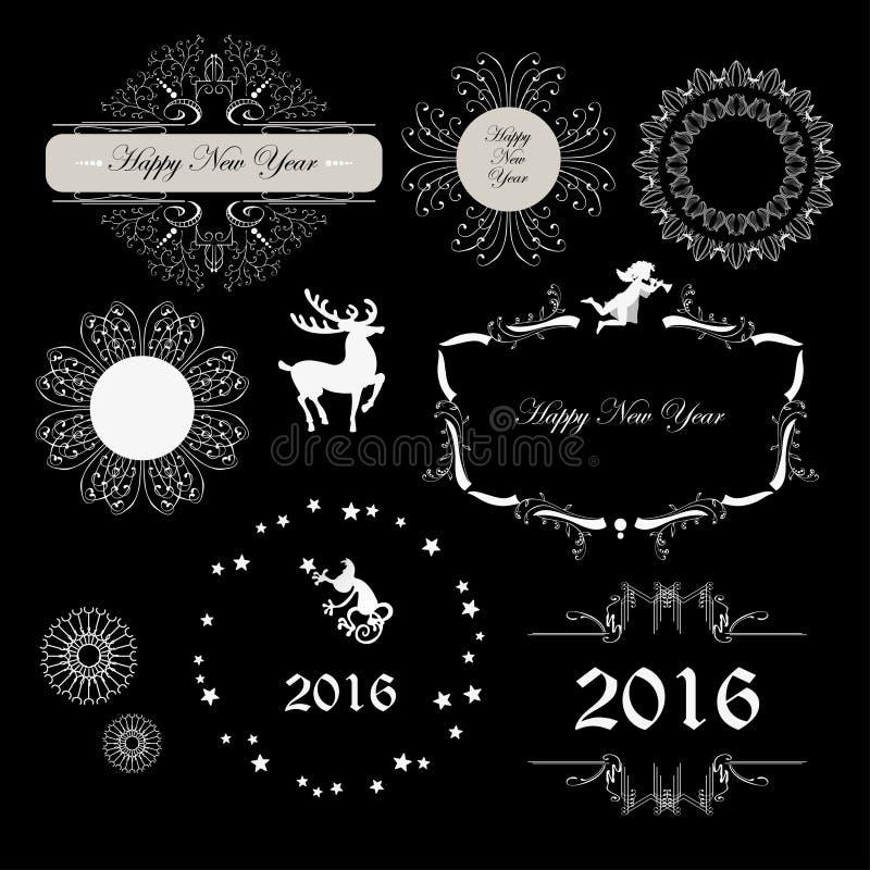 Kader voor Nieuwjaar stock illustratie