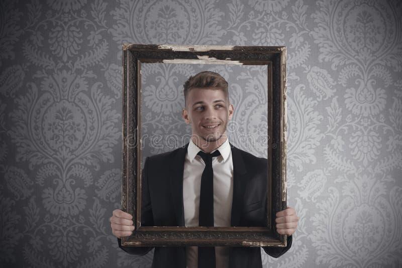 Kader in zaken stock fotografie