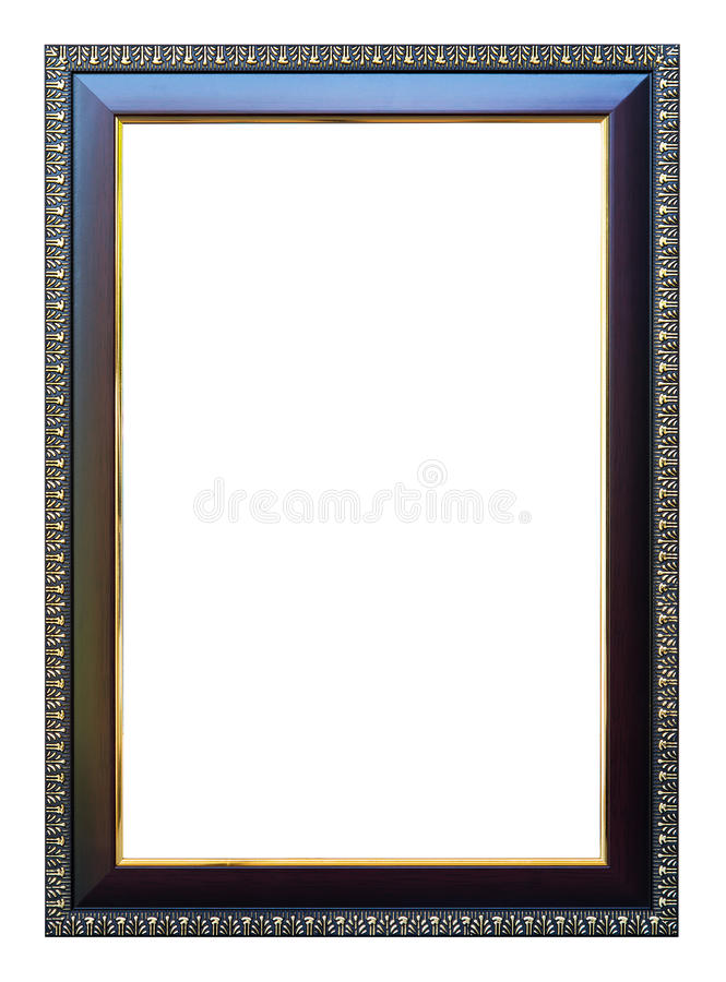 Kadergrootte 8 X12-kleuren donkere eik met gouden versiering stock fotografie