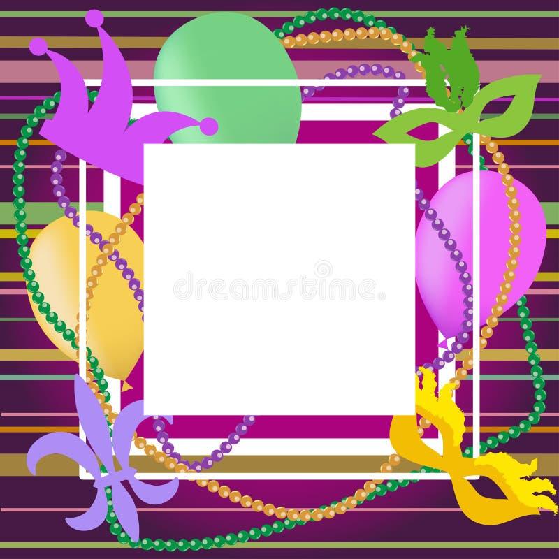 Kadermalplaatje voor Mardi Gras Vector illustratie vector illustratie