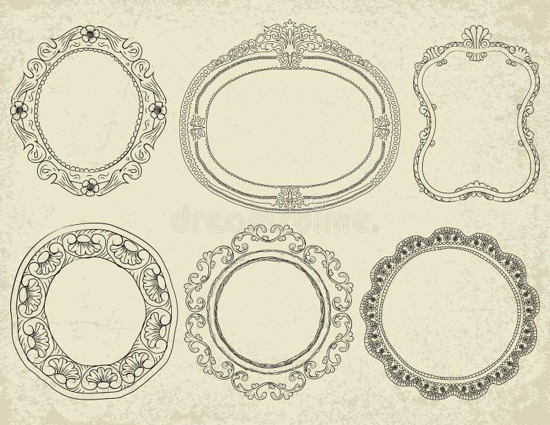 Kadersinzameling stock illustratie
