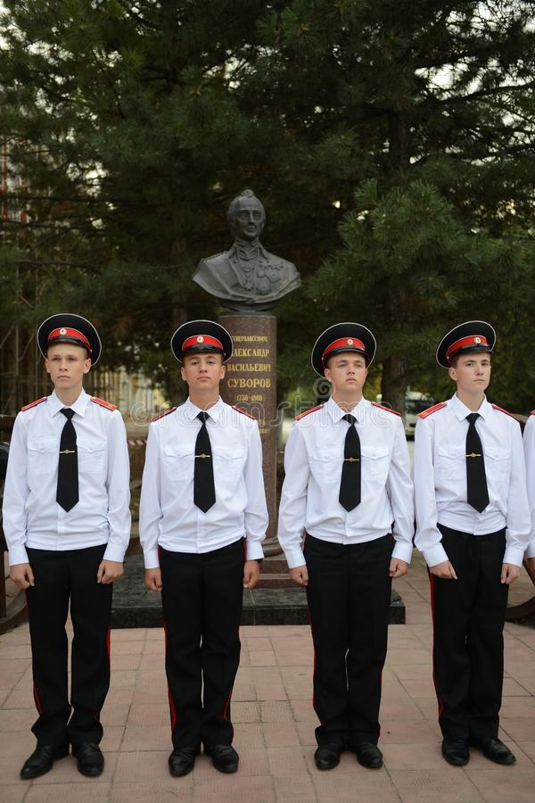 Kadeta Novocherkassk Suvorov militarna szkoła zdjęcie stock