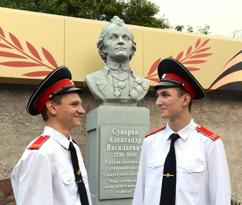 Kadeta Novocherkassk Suvorov militarna szkoła obrazy stock