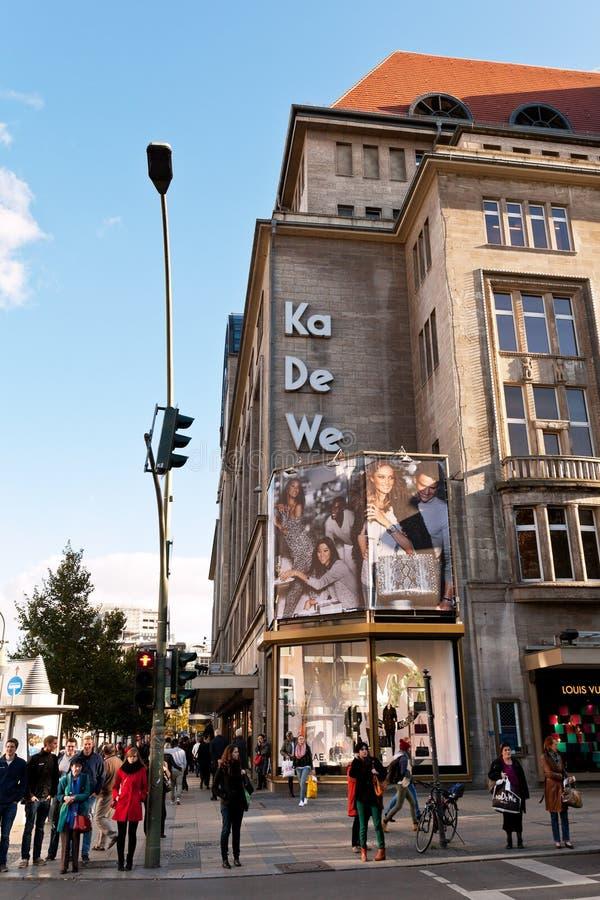 kadewe large department store in berlin editorial stock photo image of building landmark. Black Bedroom Furniture Sets. Home Design Ideas