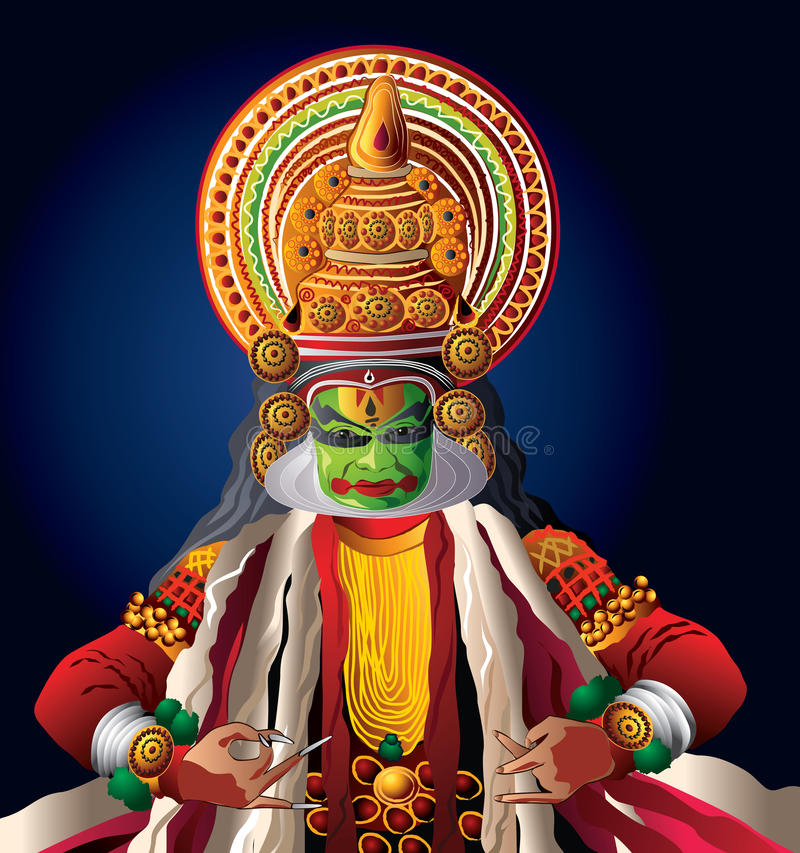 kadhakali χορού απεικόνιση αποθεμάτων