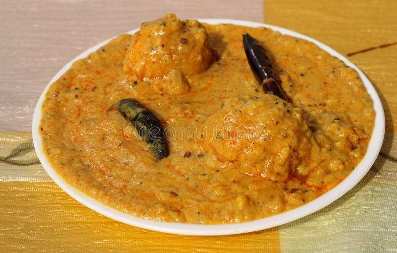 Kadhi Pakoad. Kadhi, an Indian comfort food of dumplings in yogurt sauce. Indian cuisine, Indian style food stock images