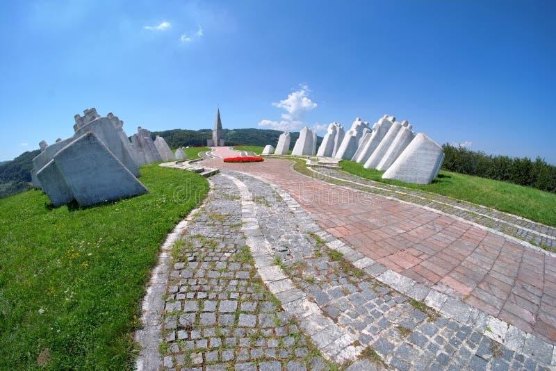 Kadinjaca Pamiątkowy kompleks, Serbia obrazy stock