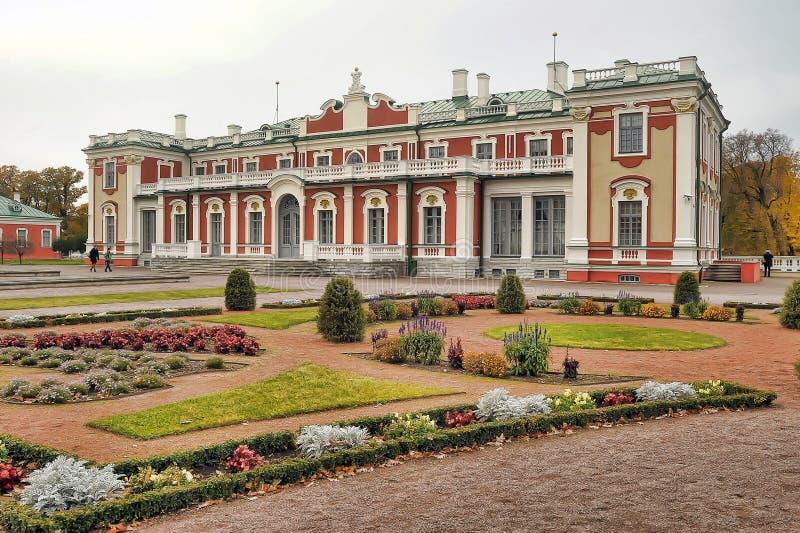 Kadriorg est un ensemble baroque de palais et de parc à Tallinn photographie stock libre de droits