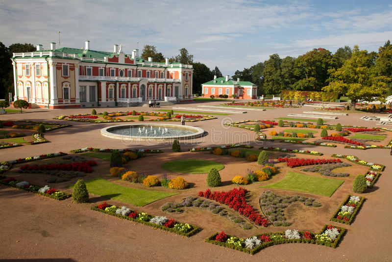 Kadriorg palace in autumn royalty free stock photos