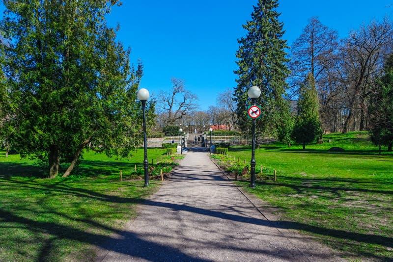 Kadriorg Park in Tallinn stock photos