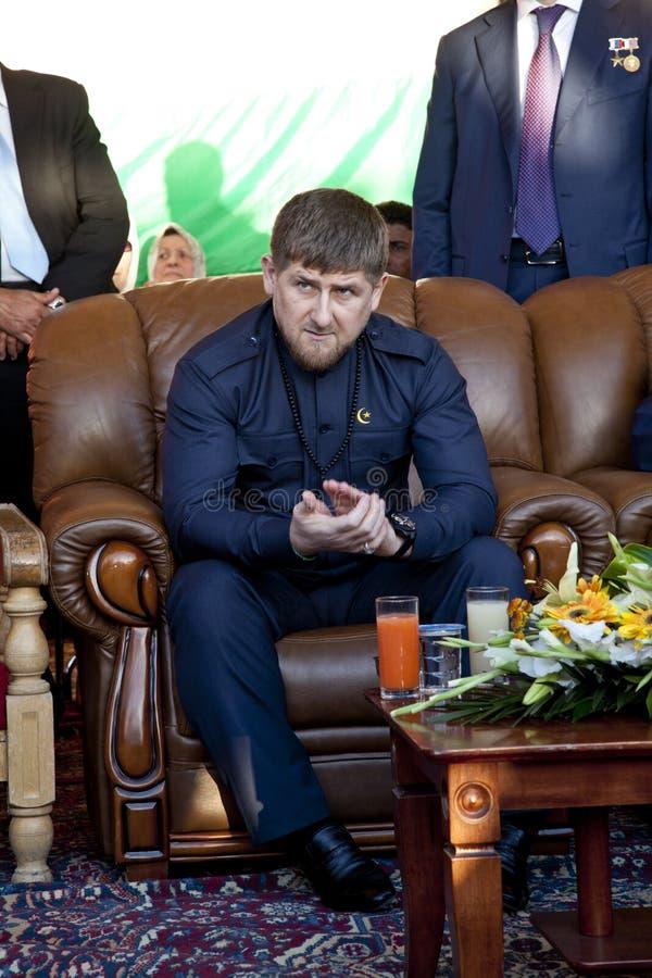 kadyrovpresident fotografering för bildbyråer