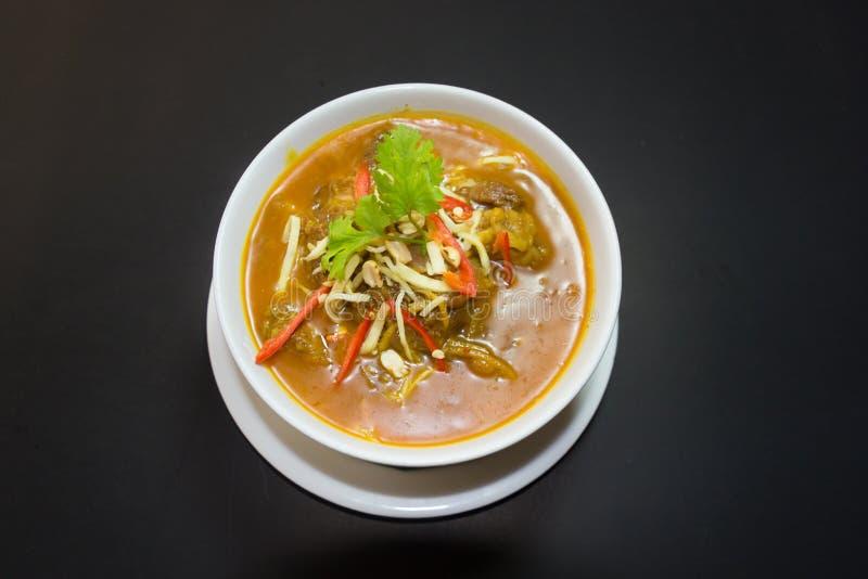 Kaeng Hung Ley Moo of het Noordelijke Thaise voedsel van de Varkensvleeskerrie stock fotografie