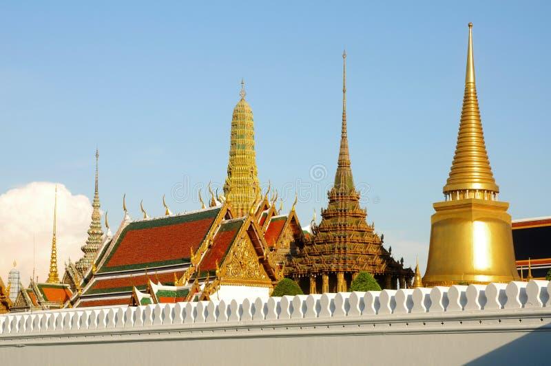 Kaeo do phra de Wat ou palácio grande Banguecoque Tailândia fotografia de stock royalty free