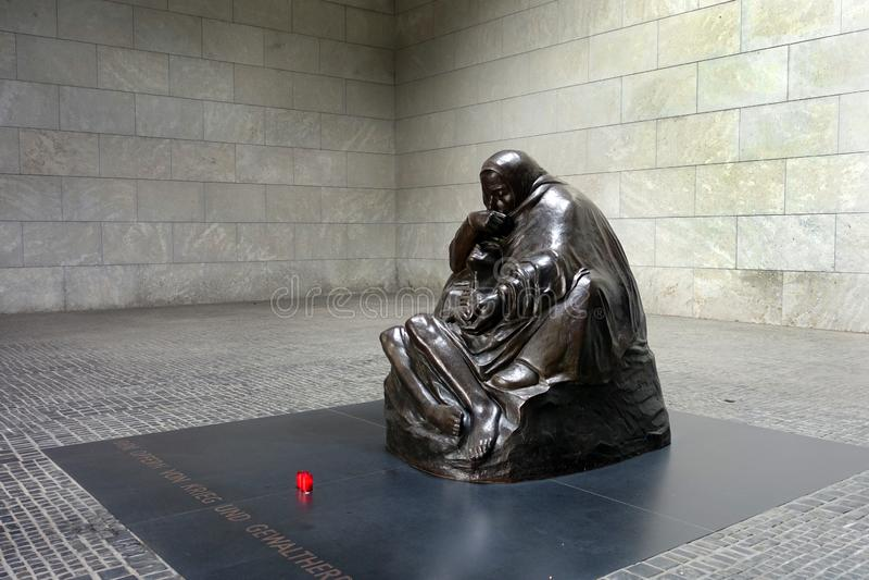 "Kaethe Kollwitz Bronze Sculpture Berlin. A bronze sculpture entitled ""Pieta"" by Germany artist Kaethe Kollwitz created in 1938/1939 royalty free stock image"