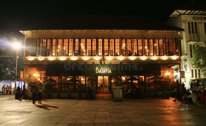Kafé Batavia i Jakarta fotografering för bildbyråer