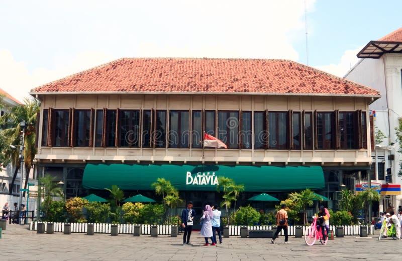 Kafé Batavia Jakarta arkivfoto