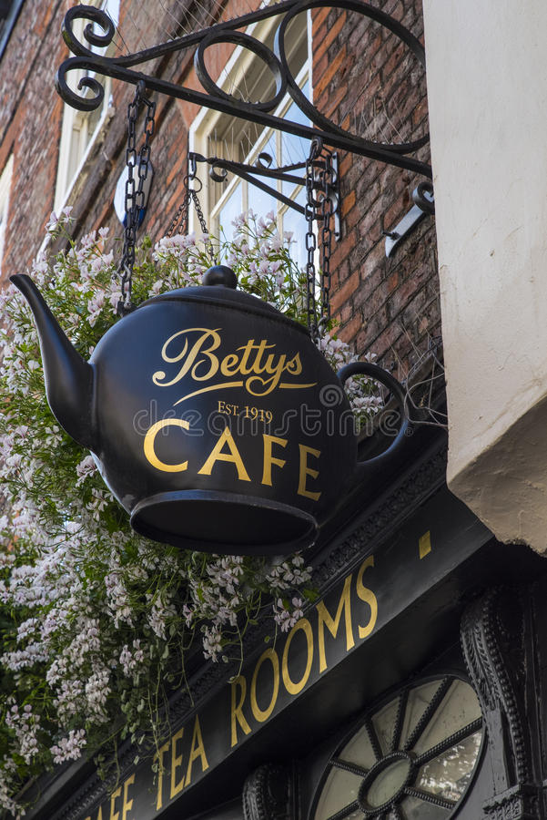 Kafé för Bettys terum arkivfoton