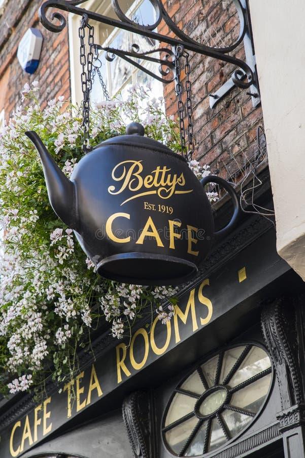 Kafé för Bettys terum royaltyfri bild
