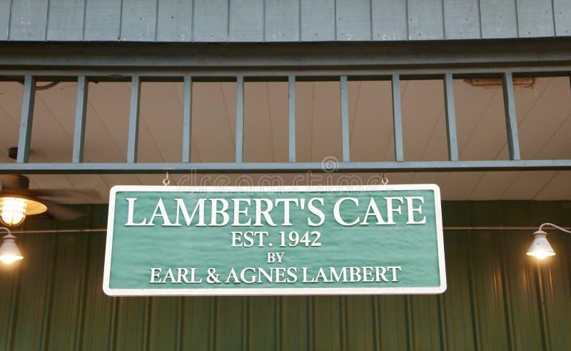 Kafé för Lambert ` s, Missouri fotografering för bildbyråer