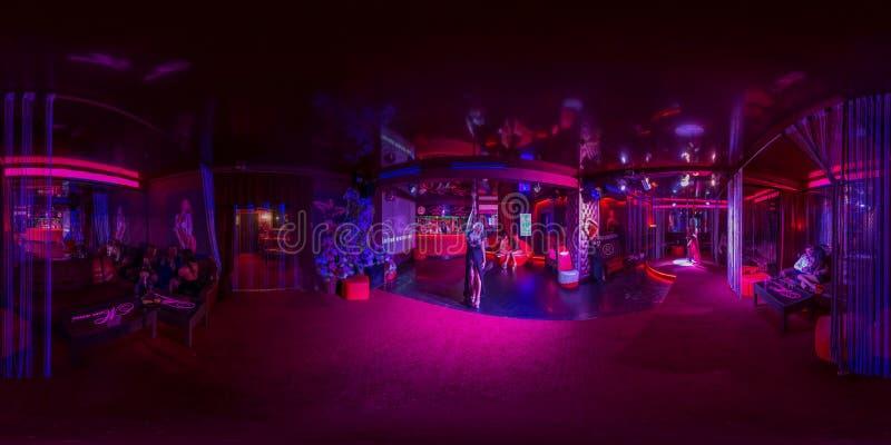Kafé med stången i nattklubben arkivbild