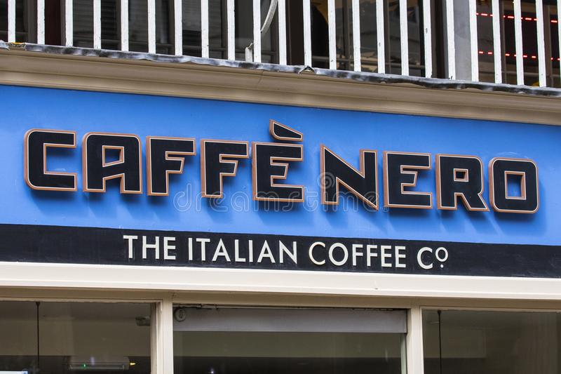 Kafé Nero royaltyfri bild