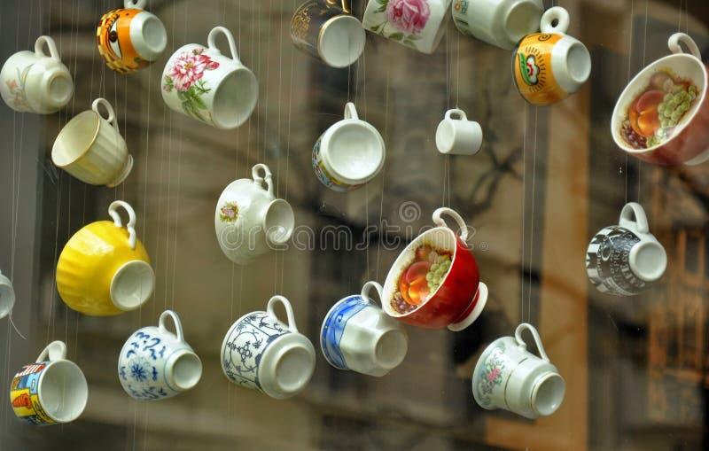 Kaféfönster royaltyfri foto