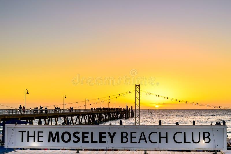 Kafét för Moseley strandklubba royaltyfri fotografi