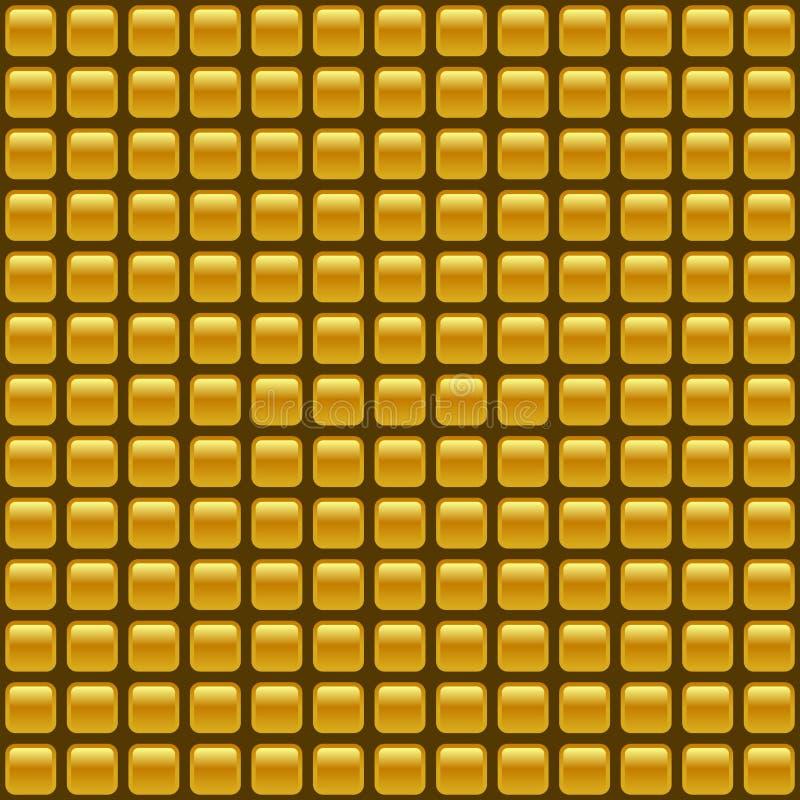 Kafelkowy bezszwowy złoty wektorowy tło royalty ilustracja