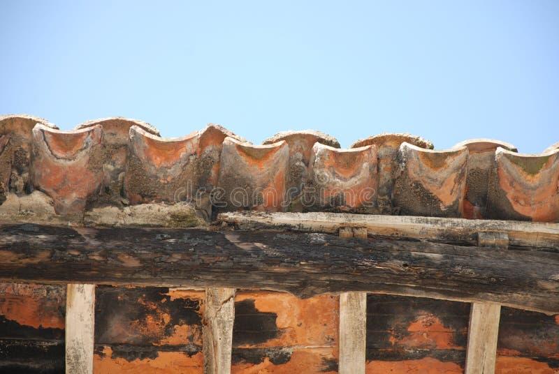 Kafelkowy dach fotografia stock