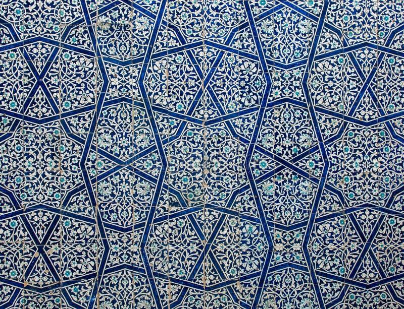 Kafelkowy tło z orientalnymi ornamentami ilustracja wektor