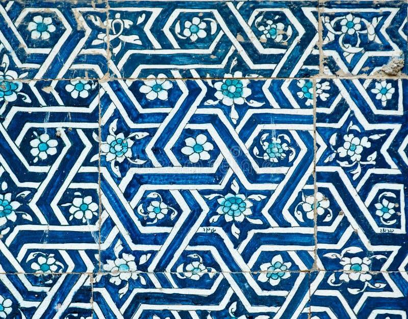 Kafelkowy tło z orientalnymi ornamentami ilustracji