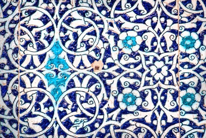 Kafelkowy tło z orientalnymi ornamentami royalty ilustracja