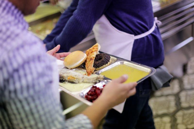 Kafeteria för fattigt royaltyfri fotografi