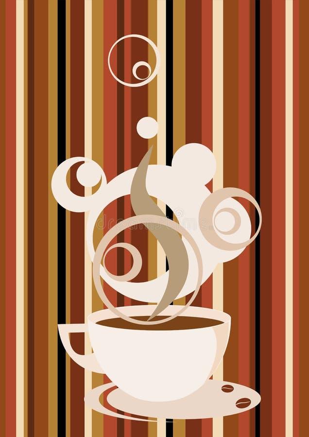 kaffe royaltyfri illustrationer