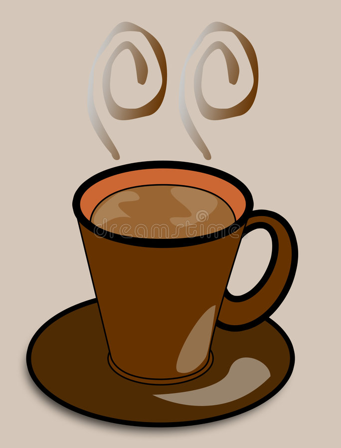 kaffe vektor illustrationer