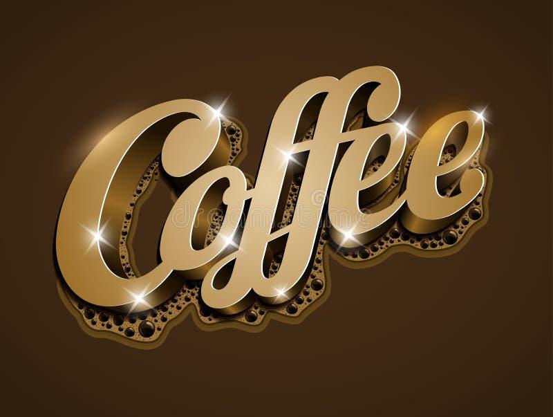 Kaffe stock illustrationer