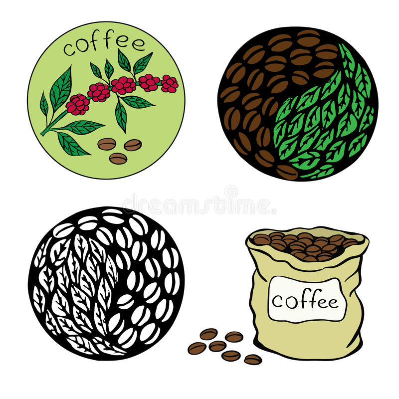 kaffe 4 stock illustrationer