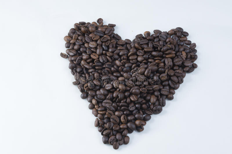 Kaffe Bean Heart royaltyfria foton