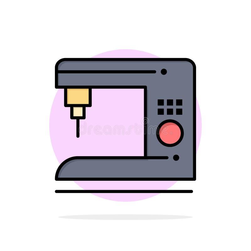 Kaffe elektriskt som är hem-, för abstrakt symbol för färg cirkelbakgrund för maskin plan stock illustrationer