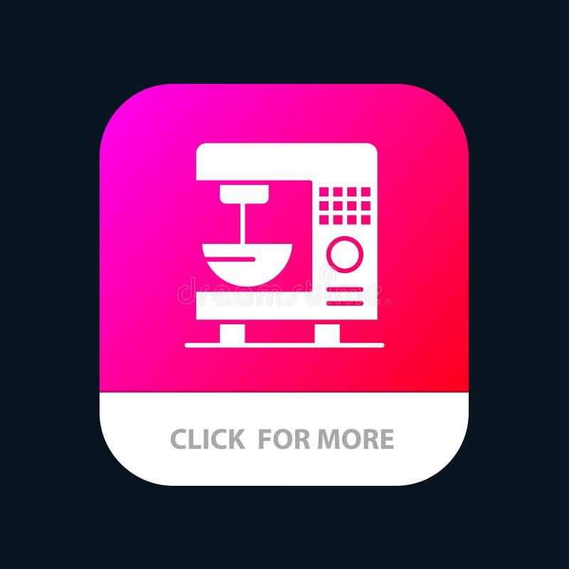 Kaffe elektriskt som är hem-, för Appsymbol för maskin mobil design royaltyfri illustrationer