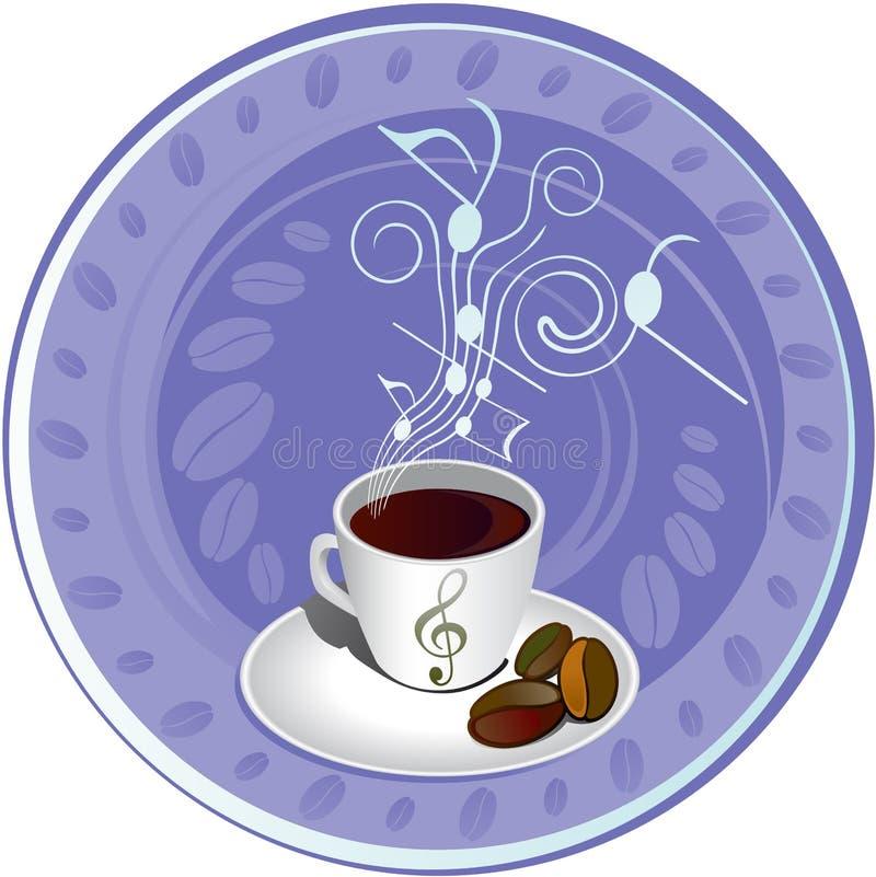 kaffe för 2 bakgrund royaltyfri illustrationer