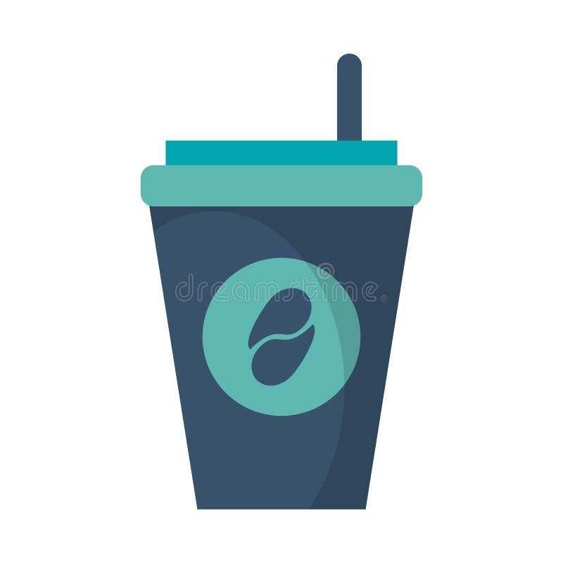 kaffe för pappers- kopp som går royaltyfria foton