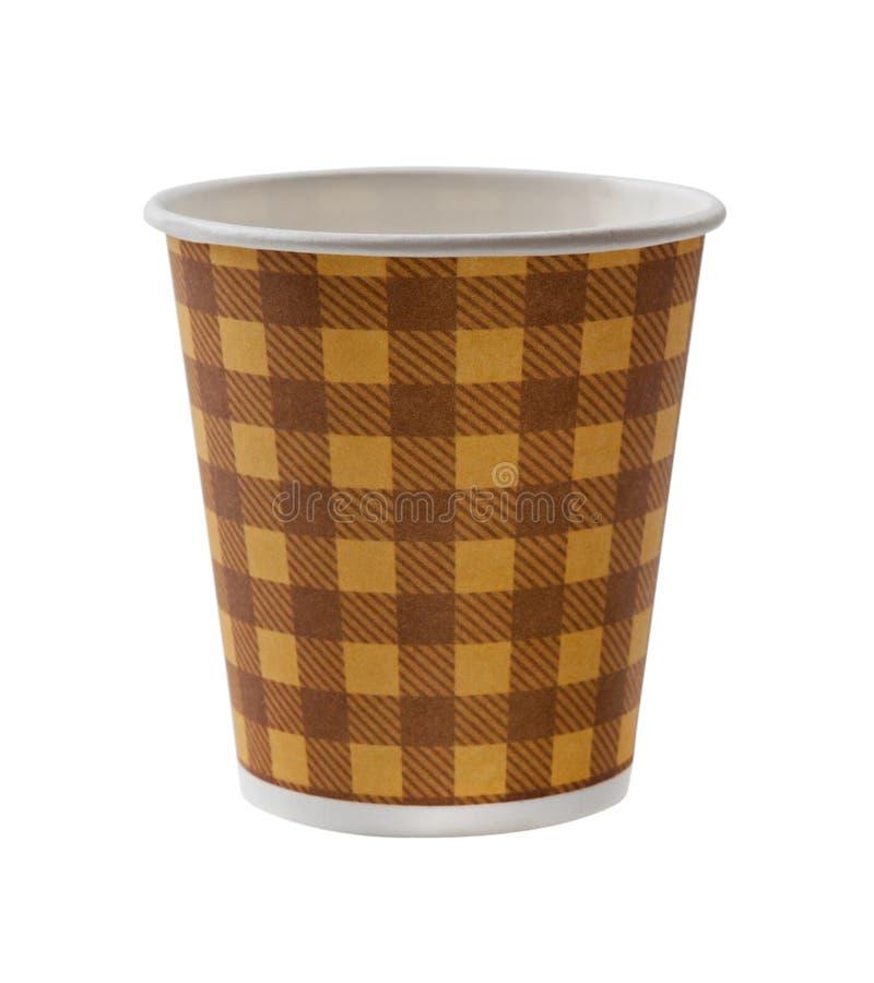Kaffe för pappers- kopp som isoleras på vit royaltyfri bild