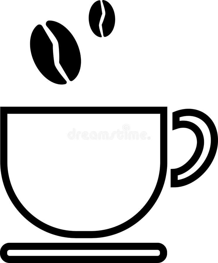 Kaffe faller in i ett litet rånar och att stå på en platta vektor illustrationer