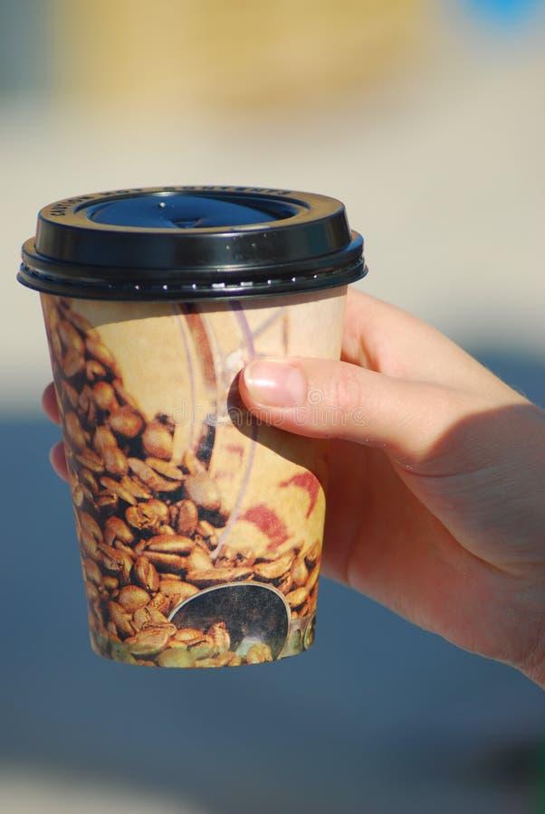 kaffe går till royaltyfri bild