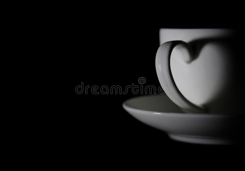 Kaffe-hjärta arkivfoto