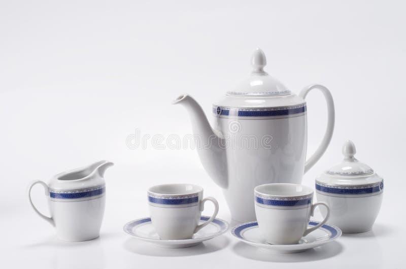 kaffe isolerad set white royaltyfri foto